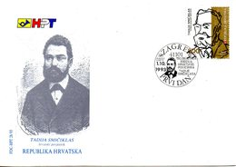 CROATIE. N°212 De 1993 Sur Enveloppe 1er Jour (FDC). Historien. - Croatia