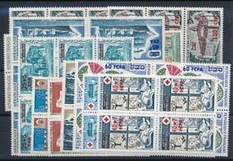 CK-198: REUNION: Lot  Avec Timbres De 1973/742** En Blocs De 6 Ou 4 - Réunion (1852-1975)