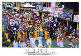 Sri Lanka Postcards, Kandy, UNESCO, Elephants, Perahera, People, Postcrossing - Sri Lanka (Ceylon)