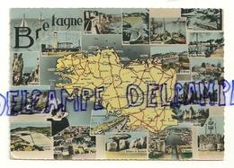 Carte Géographique De Bretagne. CIM. Combier Imp. Macon - Cartes Géographiques