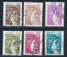 France -Sabine Série De 1981 - YT 2118-2123 Obl - 1977-81 Sabine De Gandon