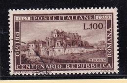 1949 Italia Italy Repubblica REPUBBLICA ROMANA Usata USED - 1946-60: Oblitérés