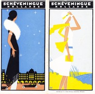 Art Deco Prospekt Von Scheveningen Holland; 10-seitig Auf Französisch - Dépliants Touristiques