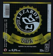 Etiquette Biere  Noire Dark   6,5% 33cl   Brasserie  Lezarde Biere Artisanale Guadeloupe - Bière