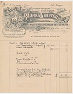 Factuur / Brief Birmingham 1907 - Tonks Limited - Metal Works - Brass Foundry - Royaume-Uni