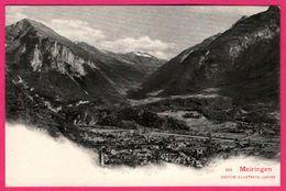 Meiringen - Vue Générale - Vallée - Montagne - Eglise - Edit. Illust. LUZERN - BE Berne