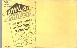 Buvard HIMALAYA TIBET Les Deux Tissus Qui Ont Lancé Le Camping! Série N°1 - Sports