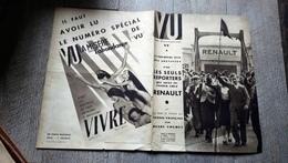 Revue Vu 1936 Grèves Renault Tennis Par Cochet Belgique  Moscou Achète Russie Cinéma - 1900 - 1949