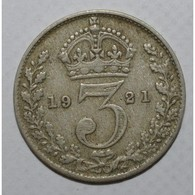 GRANDE BRETAGNE - KM 813a - 3 PENCE 1921 - GEORGE V - TTB - - Grossbritannien