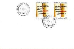 CROATIE. Timbre De Bienfaisance De 1991 Sur Enveloppe 1er Jour (FDC). Constitution. - Croatia