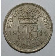 GRANDE BRETAGNE - KM 852 - 6 PENCE 1944 - GEORGE VI - TTB - - Grossbritannien