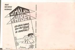 Buvard HIMALAYA TIBET Les Deux Tissus Qui Ont Lancé Le Camping! Série N°2 - Sports