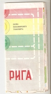 K. USSR Soviet Latvia Map - RIGA Passenger Transport Scheme 1980s - Roadmaps