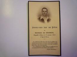 FAIRE-PART De Décès De  M. Georges De  COURCEL  1931    XXX - Décès