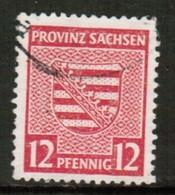 GERMANY---EAST SAXONY   Scott # 15N 10 VF USED (Stamp Scan # 441) - Saxony