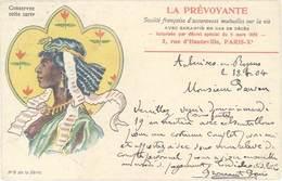 Cpa Pub La Prévoyante, Société Française D'assurances N°2,  écrite D'Auberives En Royans ( Isère ) , Egypte, Nubie (PUB) - Advertising