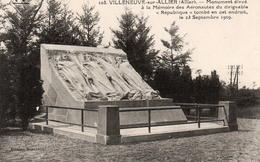 CPA 03 Allier Villeneuve Sur Allier Monument Aéronautes Dirigeable République 23 Septembre 1909 - Autres Communes