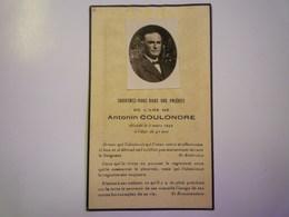 FAIRE-PART De Décès De  Antonin  COULONDRE   1942    XXX - Décès