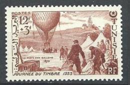 """Tunisie YT 388 """" Journée Du Timbre """" 1955 Neuf** - Tunesien (1888-1955)"""