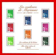 Fr. -- FRANCE  Bloc  &  Feuillet  --  2002  N° BF 45**  Neuf - Sheetlets