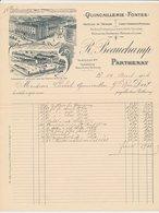 Factuur / Brief Parthenay 1914 - R. Beauchamp - Articles De Menage - Cokes - Charbons - Petroles - Coal - Oil - Frankrijk