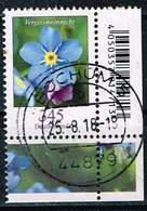 Bund 2017, Michel# 3324 O Blumen: Vergissmeinicht Eckrand Mit EAN-Code - [7] République Fédérale