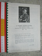WL 1970 SCOUTS SCAUTISMO SCOUTING JAMBOREE STORIA DELLO SCAUTISMO VINTAGE FOTOCOPIE RILEGATE 40 PAG. - Scoutismo