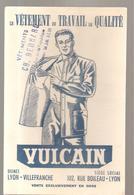 Buvard VULCAN Le Vêtement De Travail De Qualité Offert Par CH. BERNIRD 74, Rue De La République à Sens (Yonne) - Textile & Vestimentaire