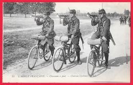 WW1 - MILITARIA - L'ARMEE FRANCAISE CHASSEURS A PIED CLAIRONS CYCLISTES - Guerra 1914-18