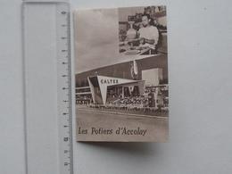 """LES POTIERS D'ACCOLAY: Publicité + Bon De Garantie D'étanchéité 1964 Avec Tarif - VERMENTON """"CALTEX"""" Station-Service - Publicités"""