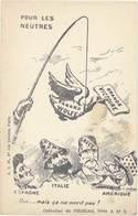 Cpa Pub  Pour Les Neutres –Collection Du Phoscao, Signée Dubray Caricature / Canard Wolff, Grèce, Italie, Espagne  (PUB) - Advertising