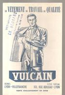 Buvard VULCAN Le Vêtement De Travail De Qualité Offert Par CH. BERNIRD 74, Rue De La République à Sens (Yonne) - Textile & Clothing