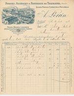 Factuur / Brief Tilchatel 1910 - Forges - Acieries - Fonderie -  Steelworks - Foundry - Frankrijk