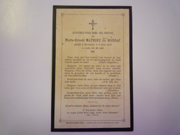 FAIRE-PART De Décès De  Marie-Ernest Mathieu De  BOISSAC   1913    XXX - Décès