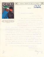 1911 Bern; Mit Zwei Schreiben Der Zeitschrift Für Sport Und Touristik ; An Firma Zweifel In Lenzburg - Werbung