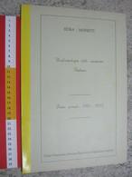 WL 1970 SCOUTS SCAUTISMO SCOUTING JAMBOREE STORIA UNIFORMI ITALIA DAL 1912 AL1923 CNGEI TORINO GRANDE FORMATO CICLOSTILE - Scoutisme