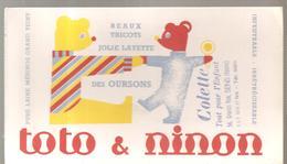 Buvard Toto & Nino Beaux Tricots Jolie Layette Offert Par Colette 56, Grande Rue à Sens (Yonne) - Textile & Vestimentaire