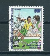 1998 Ivoorkust Voetbal,soccer,football Used/gebruikt/oblitere - Ivory Coast (1960-...)