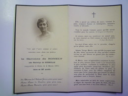 FAIRE-PART De Décès De La BARONNE  De  ROMEUF  Née Hedwige  De SUSBIELLE   1931   XXX - Décès