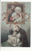 San124 Santino Holy Picture Image Pieuse Assistenza Malati - Santini
