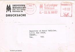 31190. Carta LEIPZIG (Alemania Federal) 1987. Franqueo Mecanico  MM, Leipziger Messe - [7] República Federal