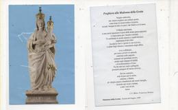 San125 Santino Holy Picture Image Pieuse Madonna Della Grotta Con Preghiera Statua Marmo Statue - Devotion Images