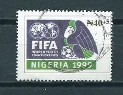 1999 Nigeria Voetbal,soccer,football,FIFA Used/gebruikt/oblitere - Nigeria (1961-...)