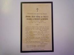 FAIRE-PART De Décès De Marie-Thérèse De  BREZETZ  Marquise De PANEBEUF De MAYNARD   1911   XXX - Décès