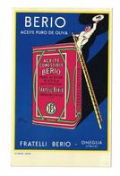 CARTOLINA POSTALE TARJETA POSTAL  FRATELLI BERIO  ACEITE PURO DE OLIVA  Illustratore  BAZZI - Publicidad