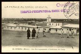 MAROC MAROKKO MOROCCO MARRUECOS  CPA OUJDA - LES BARRAQUEMENTS A L' INTERIEUR DU CAMP - Marrakech