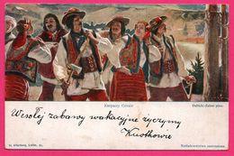 Karpaccy Gorale - Hache - Animée - Lwow H. ALTENBERG - DEBICKI ZUBER Pinx. - Ukraine