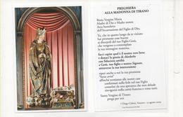 San126 Santino Holy Picture Image Pieuse Madonna Di Tirano Con Preghiera Statua Marmo Statue Santuario Sondrio - Devotion Images
