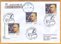 2019 Moldova Moldavie FDC Alexei Starcea - Composer, Singer, Teacher, Art  Music   Used - Music