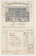 Factuur / Brief Grand Hotel De Toulon - Frankrijk